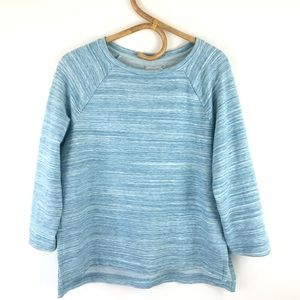 Lou & Grey Blue 3/4 Sleeve Sweater Size Small